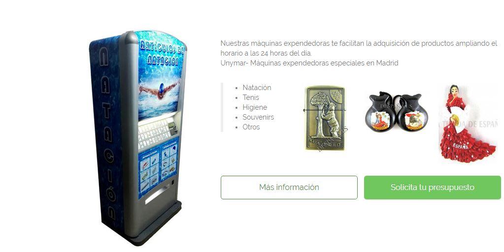 maquinas vending madrid personalizadas